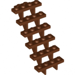 LEGO 4277751 ESCALIER 7x4x6 - REDDISH BROWN