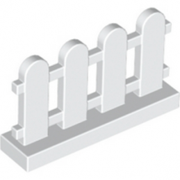 LEGO 4141607 CLOTURE / BARRIERE 1X4X2 - BLANC
