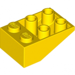LEGO 374724 TUILE 2X3/25° INV. - JAUNE