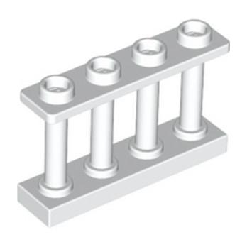 LEGO 6047813 CLOTURE / BARRIERE 1x4x2 - BLANC lego-6047813-fence-1x4x2-blanc ici :