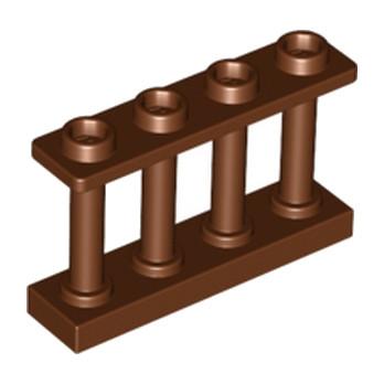 LEGO 6066114 CLOTURE / BARRIERE 1x4x2 - REDDISH BROWN lego-6066114-cloture-barriere-1x4x2-reddish-brown ici :