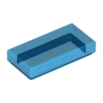 LEGO 4113854 PLATE LISSE 1X2 - BLEU FONCE TRANSPARENT