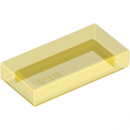 LEGO 306944 PLATE LISEE 1X2 - JAUNE TRANSPARENT