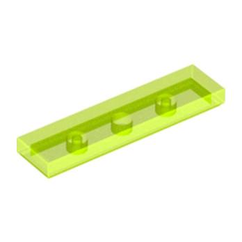 LEGO 6030742 PLATE LISSE 1X4 - JAUNE FLUO TRANSPARENT