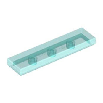 LEGO 4586557PLATE LISSE 1X4 - TRANSPARENT BLEU