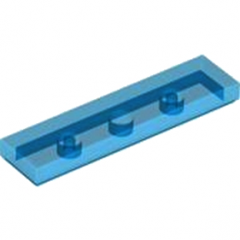 LEGO 4590989 PLATE LISSE 1X4 - BLEU FONCE TRANSPARENT