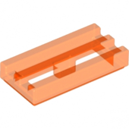 LEGO 4109765 GRILLE 1X2 - ORANGE FLUO TRANSPARENT