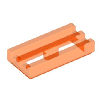 LEGO 4109765 GRILLE 1X2 - ORANGE FLUO TRANSPARENT