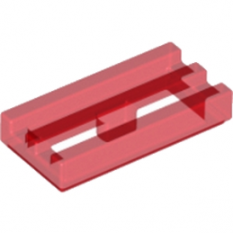LEGO 241241 GRILLE 1X2 - ROUGE TRANSPARENT