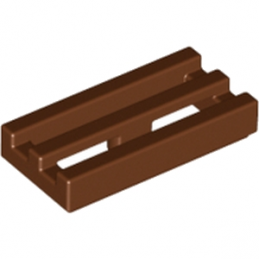 LEGO 4224243 GRILLE 1X2 - REDDISH BROWN