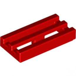 LEGO 241221 GRILLE 1X2 - ROUGE