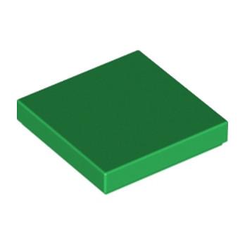 LEGO 306828 PLATE LISSE 2X2 - DARK GREEN