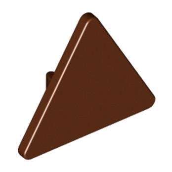 LEGO 4517594 PANNEAU TRIANGLE - REDDISH BROWN