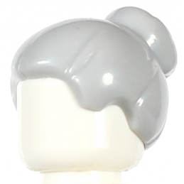 LEGO 6064026 CHEVEUX FEME CHIGNON - MEDIUM STONE GREY