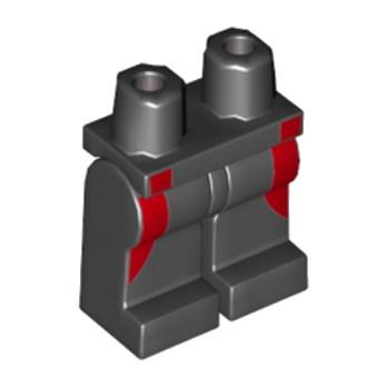 LEGO 6107232 JAMBE - IMPRIME NOIR / ROUGE