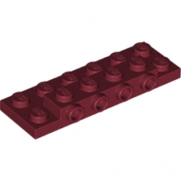 LEGO 6175591 PLATE 2X6X23 W 4 HOR. KNOB - NEW DARK RED