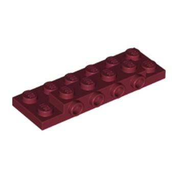 LEGO 6175591 PLATE 2X6X23 W 4 HOR. KNOB - NEW DARK RED