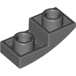 LEGO 6215212 DOME INV. 1X2X2/3 - DARK STONE GREY