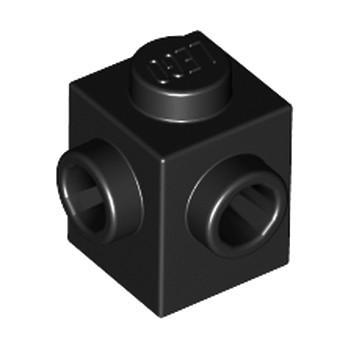 LEGO 6187572 BRIQUE 1X1, W/ 2 KNOBS - NOIR