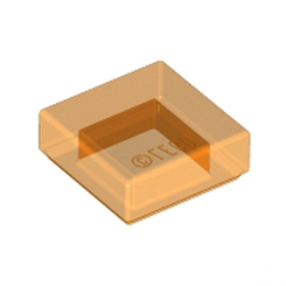 LEGO 6109457 PLATE LISSE 1X1 - ORANGE TRANSPARENT
