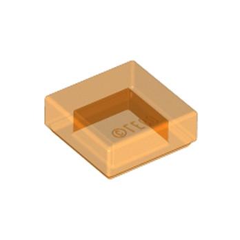 LEGO 6254252 PLATE LISSE 1X1 - ORANGE TRANSPARENT
