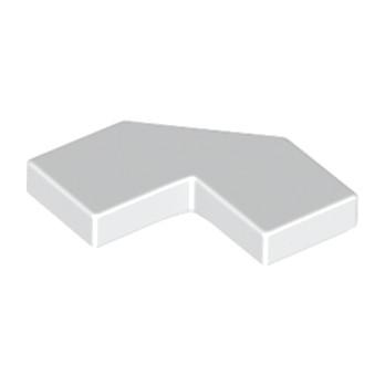 LEGO 6168612 PLATE LISSE 2X2, 2X2, DEG. 90, W/ DEG. 45 - BLANC