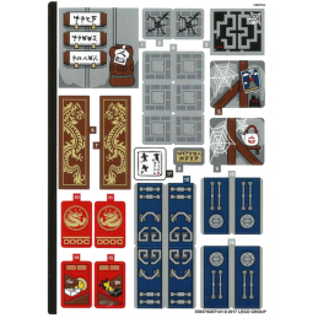 Stickers / Autocollant Lego Ninjago 70617