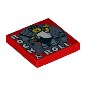LEGO 6216068 CADRE DISCO 2X2 - ROUGE