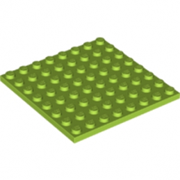 LEGO 6210657 PLATE 8X8 - BRIGHT YELLOWISH GREEN