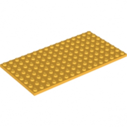 LEGO 6211408 PLATE 8X16 - FLAME YELLOWISH ORANGE