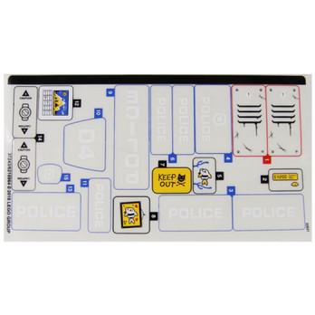 Stickers / Autocollant Lego City 60174