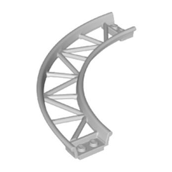 LEGO 6185390 RAIL COURBE 13X13, 1/4 CIRCLE, W/ 3.2 SHAFT  - MEDIUM STONE GREY