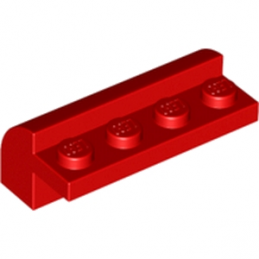 LEGO 4116617 BRIQUE W. BOW 4X1X1 1/3 - ROUGE