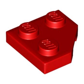 LEGO 6173961 PLATE 2X2, CORNER, 45 DEG. - ROUGE