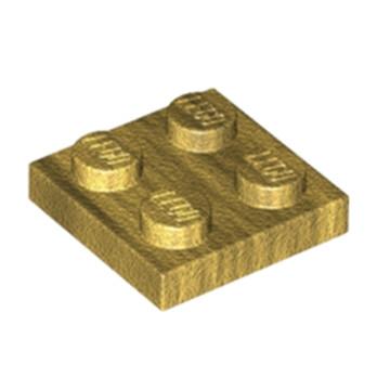 LEGO 6162885 PLATE 2X2 - WARM GOLD