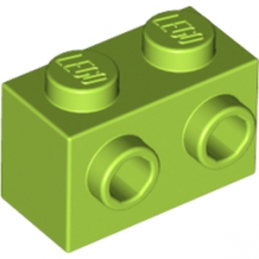 LEGO 6208291 BRIQUE 1X2 W. 2 KNOBS - BRIGHT YELLOWISH GREEN