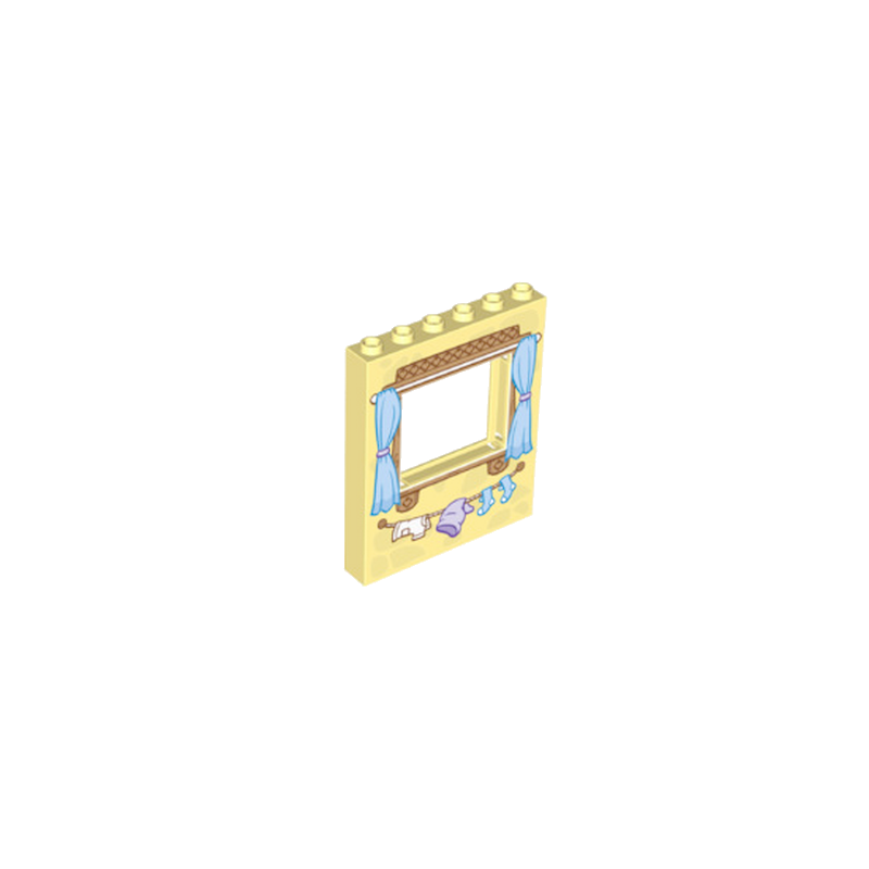 LEGO 6181866 FENETRE 1X6X6 - COOL YELLOW