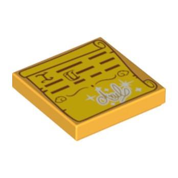 LEGO 6191561 PLATE LISSE 2X2 - IMPRIME