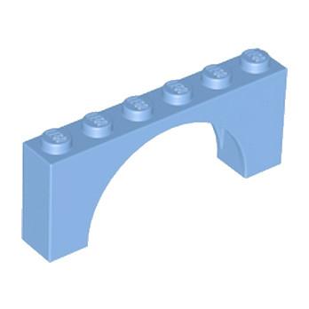 LEGO 6186139 BRIQUE W. INSIDE BOW 1X6X2 - MEDIUM BLUE