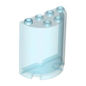 LEGO 6074868 CLOISON ARRONDI 2X4X4 - BLEU TRANSPARENT