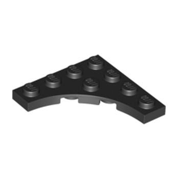 LEGO 6208787 PLATE 4X4 ROND INV - NOIR