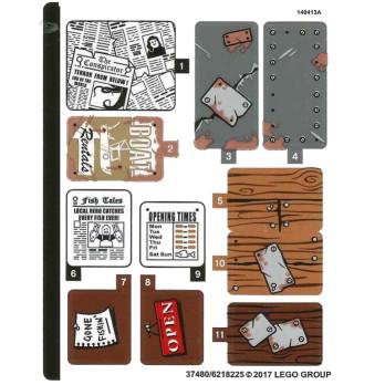 Stickers / Autocollant Lego  Ideas - 21310