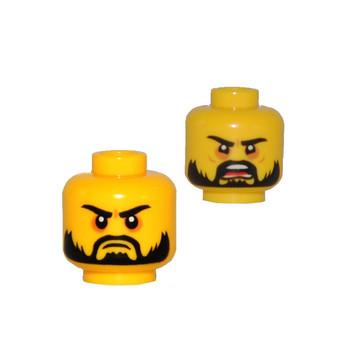 LEGO 6196579 TÊTE  HOMME  (2 FACES)