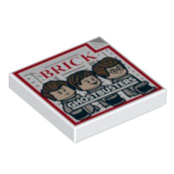 LEGO   6135301 IMPRIME GHOSTBUSTER 2X2 - BLANC
