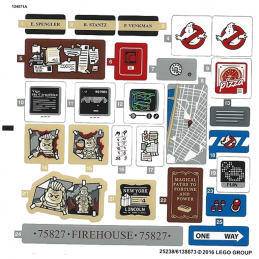 Stickers / Autocollant Lego Ghostbuster 75827