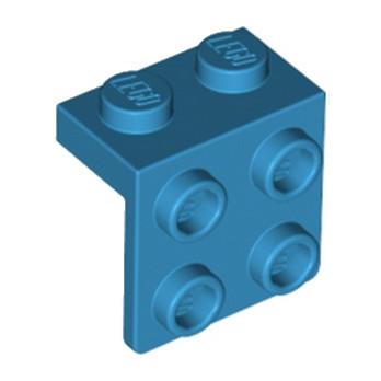 LEGO 6212973 ANGLE PLATE 1X2 / 2X2 - DARK AZUR