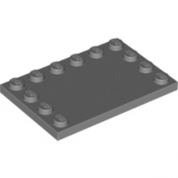 LEGO 6199511 PLATE 4X6 W. 12 KNOBS - DARK STONE GREY