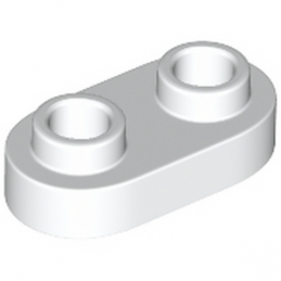 LEGO 6210272 PLATE 1X2, ROND - BLANC