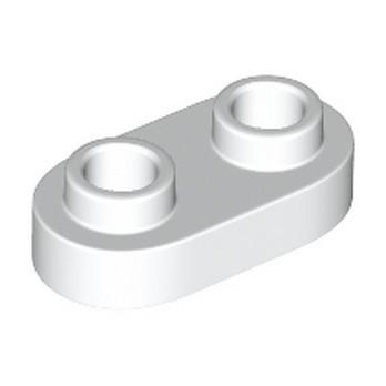 LEGO 6210272 PLATE 1X2, ROND - BLANC lego-6210272-plate-1x2-rond-blanc ici :