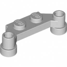 LEGO 6138067 PLATE 1X4 SPLIT-LEVEL - MEDIUM STONE GREY